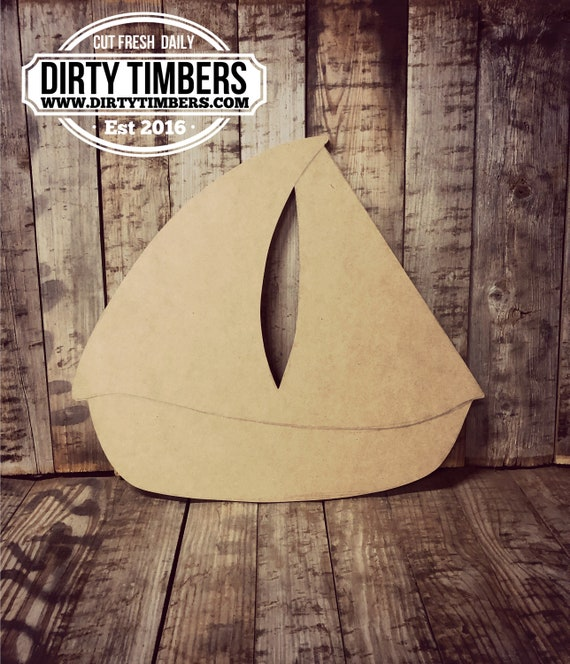 Unfinished, Sail Boat, Beach, Door, Hanger, DIY, Blank, Wood, Cut, Out, Ready, To,  Paint, Fall, Summer, Christmas, Custom