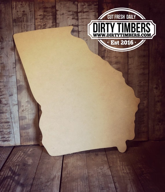Unfinished, Georgia, State, Door, Hanger, DIY, Blank, Wood, Cut, Out, Ready, To, Paint, Fall, Summer, Christmas, Custom, Wholesale, DT2134