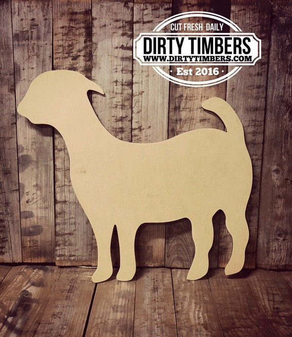 Unfinished, Goat, Farmhouse, Door, Hanger, DIY, Blank, Wood, Cut, Out, Ready, To, Paint, Fall, Summer, Christmas, Custom, Wholesale