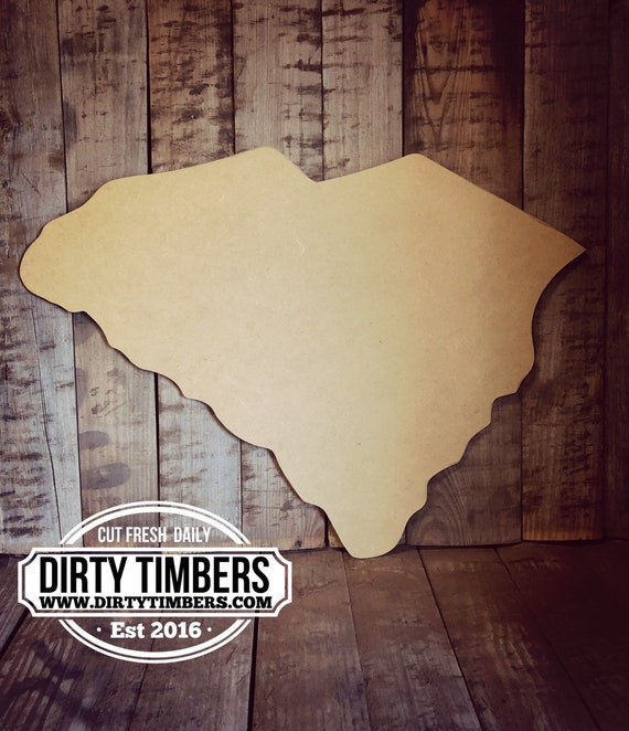 Unfinished, South Carolina, State, Door, Hanger, DIY, Blank, Wood, Cut, Out, Ready, To, Paint, Fall, Summer, Christmas, Custom, Wholesale
