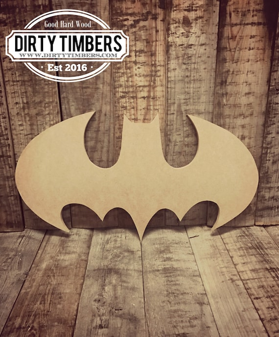 Unfinished, Batman, Door, Hanger, Comic, Book, Super Hero, DIY, Blank, Wood, Cut, Out, Ready, To, Paint, Custom, DT2093
