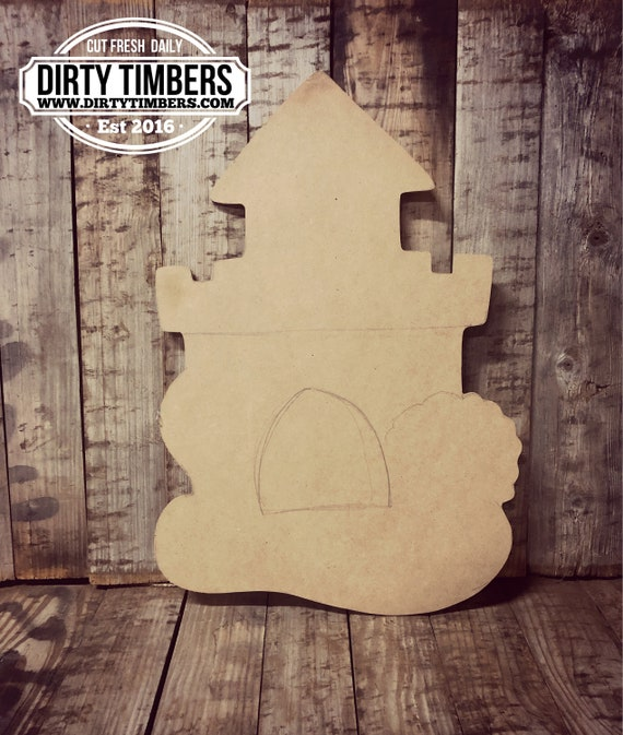 Unfinished, Sand Castle, Kid, Party, Door, Hanger, DIY, Blank, Wood, Cut, Out, Ready, To,  Paint, Fall, Summer, Christmas, Custom