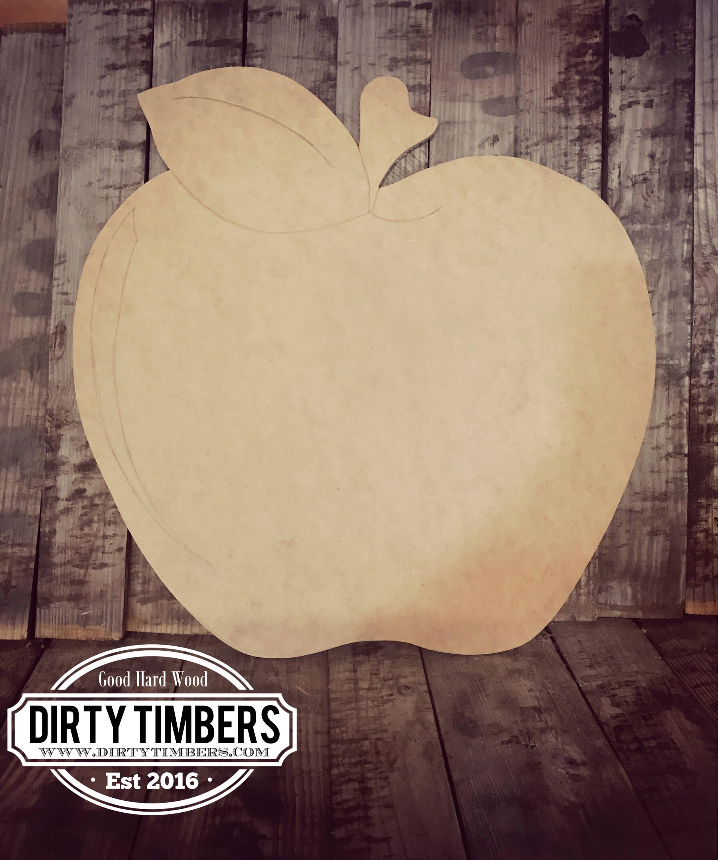 Unfinished, Apple, Door, Hanger, Teacher, Fall, School, DIY, Blank, Wood,  Cut, Out, Ready, To, Paint, Custom,Wholesale