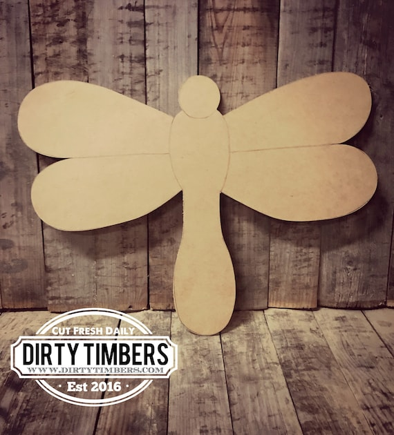 Unfinished, Dragon Fly, Door, Hanger, Summer, Pool, Beach, DIY, Blank, Wood, Cut, Out, Ready, To, Paint, Custom, Wholesale