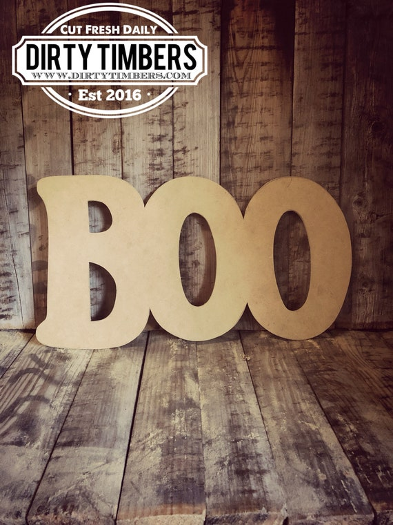 Unfinished, Boo, Door, Hanger, Halloween, Fall, DIY, Blank, Wood, Cut, Out, Ready, To, Paint, Custom,Wholesale