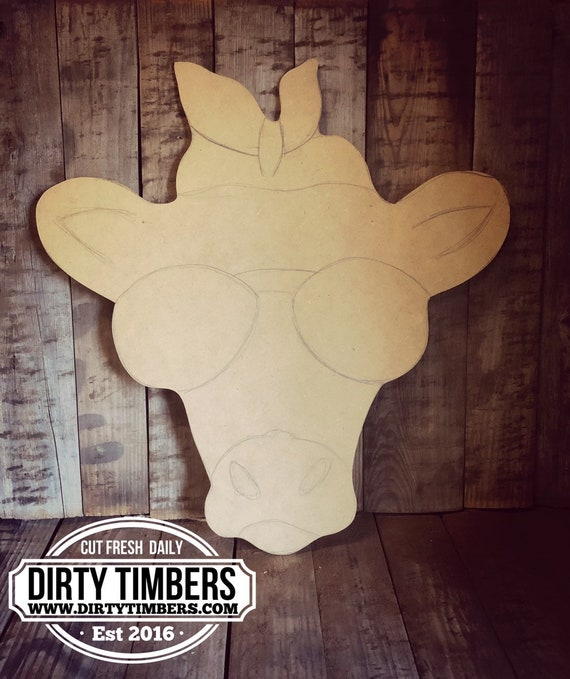 Unfinished, Heifer Cow, Farmhouse Style, Farm Animal, Door, Hanger, DIY, Blank, Wood, Cut, Out, Ready, To, Paint, Custom, Wholesale, DT2129