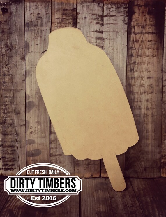 Unfinished, Bomb Popsicle, Door, Hanger, DIY, Blank, Wood, Cut, Out, Ready, To, Paint, Fall, Summer, Christmas, Custom,