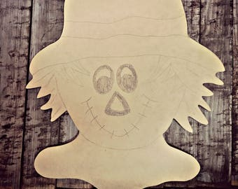 Unfinished, Scarecrow, Door, Hanger, Teacher, Fall, School, DIY, Blank, Wood, Cut, Out, Ready, To, Paint, Custom,Wholesale
