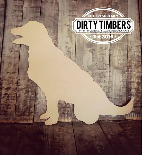 Unfinished, Golden Retriever, Pet, Dog, Door, Hanger, Summer, Beach, DIY, Blank, Wood, Cut, Out, Ready, To, Paint, Custom,Wholesale