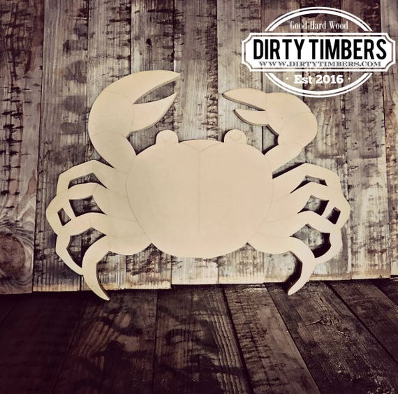 Unfinished, Crab, Door, Hanger, Beach, Summer, Blank, Wood, Cut, Out, Ready, To, Paint, Custom, Wholesale