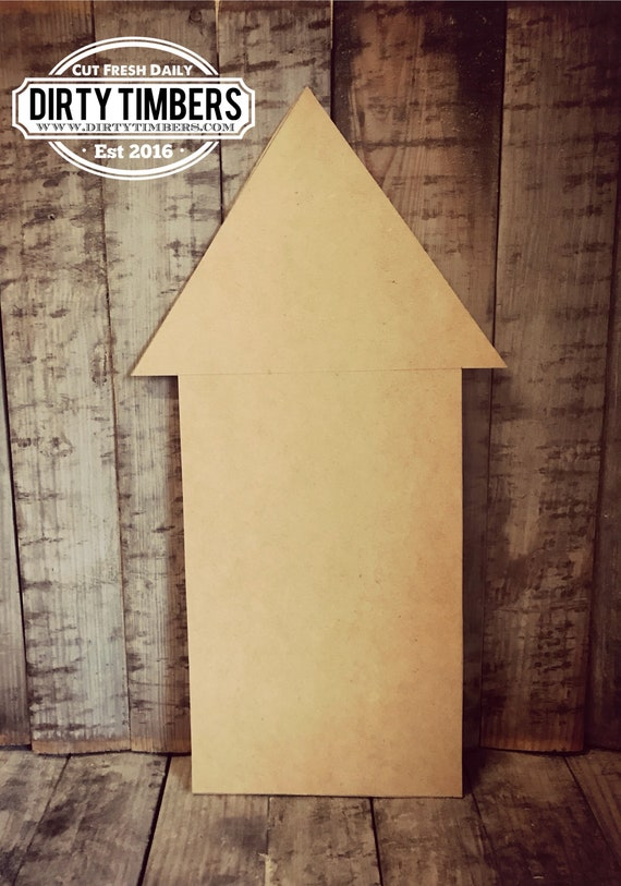 Unfinished, Arrow, Rocket, Door, Hanger, Fourth, Beach, DIY, Blank, Wood, Cut, Out, Ready, To, Paint, Custom, Wholesale