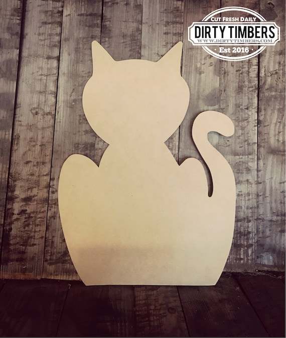 Unfinished, Cat, Door, Hanger, Halloween, Pet, DIY, Blank, Wood, Cut, Out, Ready, To, Paint, Custom, Wholesale, DT2107