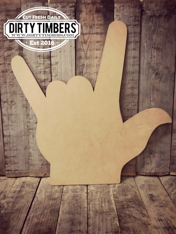 Unfinished, I Love You, Sign Language, Door, Hanger, DIY, Blank, Wood, Cut, Out, Ready, To, Paint, Custom, Wholesale