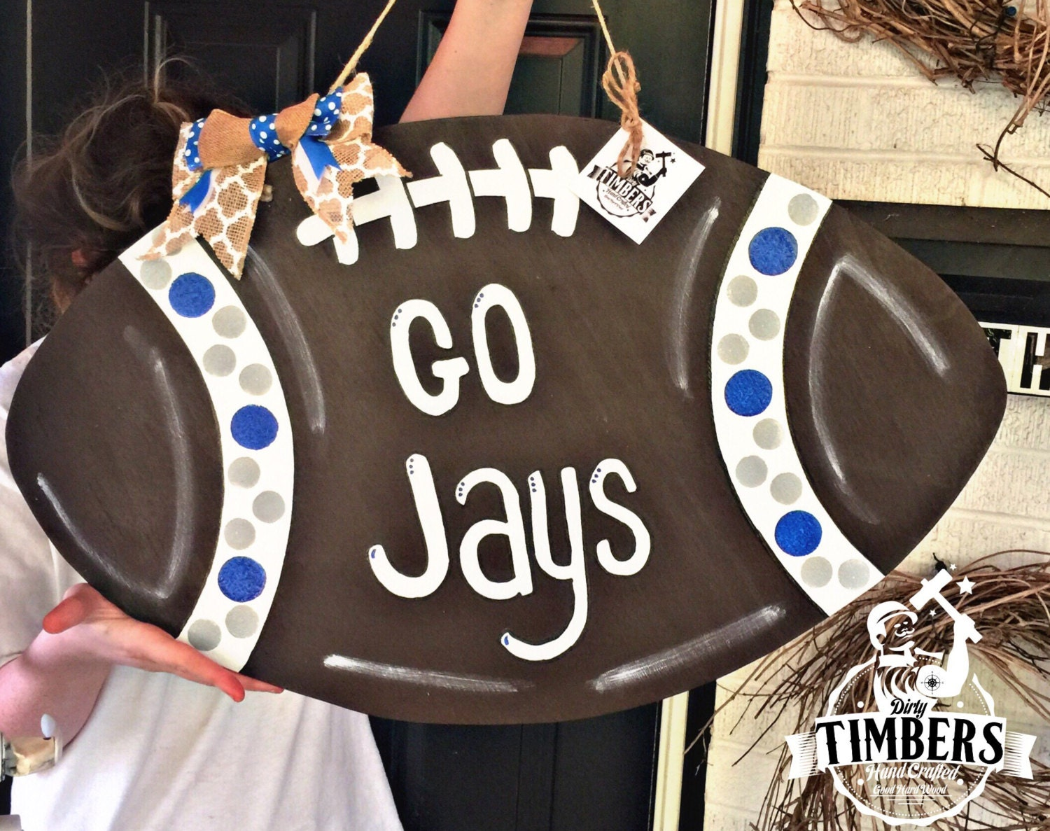 Unfinished Football Ready To Paint Blank Diy Door