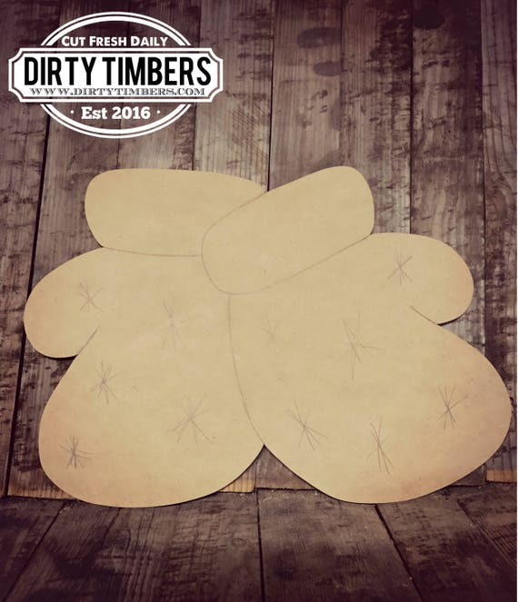 Unfinished, Mittens, Boxing Gloves, , Ready to Paint, DIY, Custom, Winter Decor, Holiday Decor, Blank, Wood Cut Out, DT2070