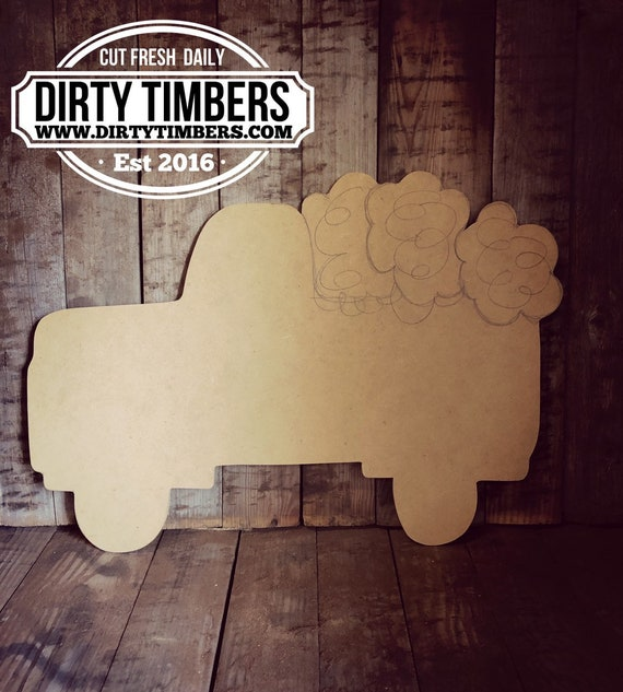 Unfinished, Truck, Cotton, Door, Hanger, DIY, Blank, Wood, Cut, Out, Ready, To, Paint, Fall, Summer, Christmas, Custom,