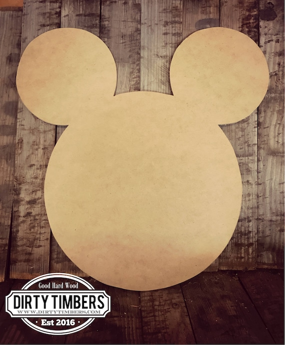 Unfinished, Mickey, Mouse, Door, Hanger, Birthday, Baby, Announcement, DIY, Blank, Wood, Cut, Out, Ready, To, Paint, Custom,Wholesale,DT2115