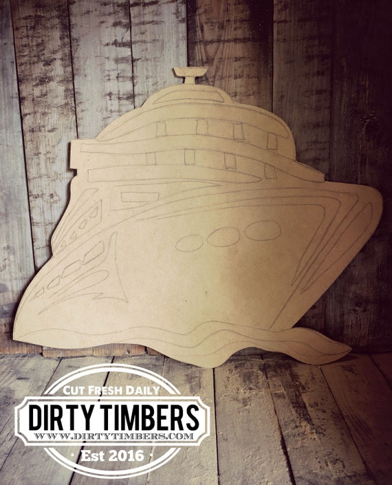 Unfinished, Cruise Ship, Door, Hanger, Summer, Beach, DIY, Blank, Wood, Cut, Out, Ready, To, Paint, Custom, Wholesale