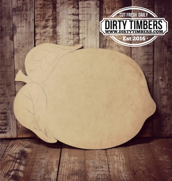 Unfinished, Lemon, Farmhouse, Door, Hanger, DIY, Blank, Wood, Cut, Out, Ready, To, Paint, Fall, Summer, Christmas, Custom, Wholesale