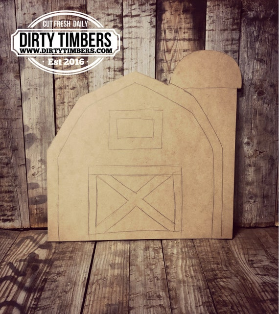 Unfinished, Barn, Silo, Farmhouse, Door, Hanger, DIY, Blank, Wood, Cut, Out, Ready, To,  Paint, Fall, Summer, Christmas, Custom