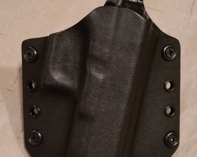 Black OWB custom kydex holster