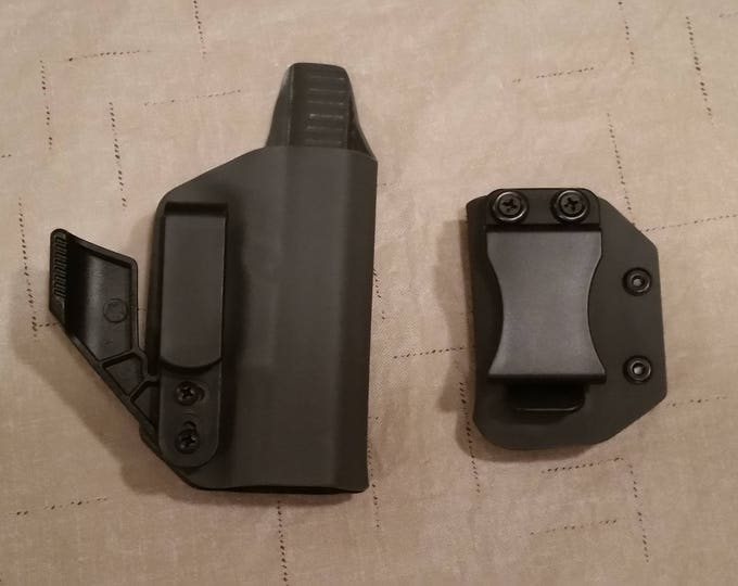 Combo IWB Kydex Holster and Spare Mag Pouch (Dark Gray)