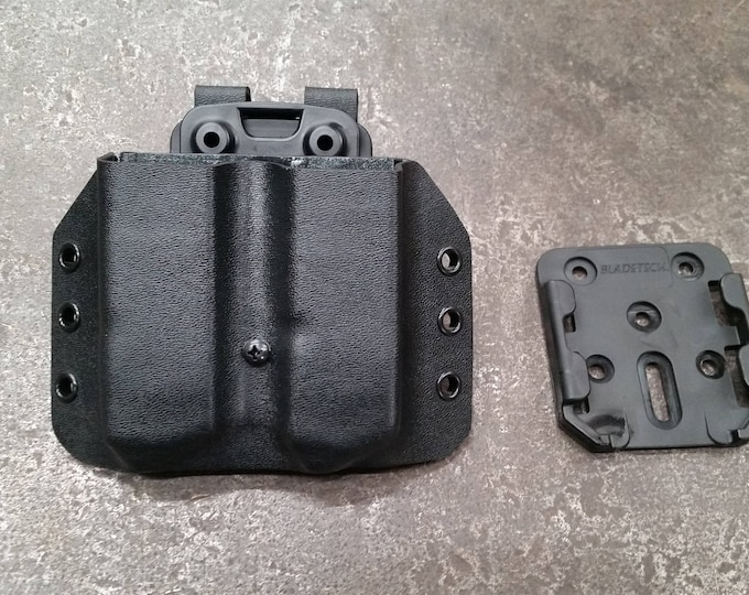 Double Magazine, Kydex Carrier with Modular Mount