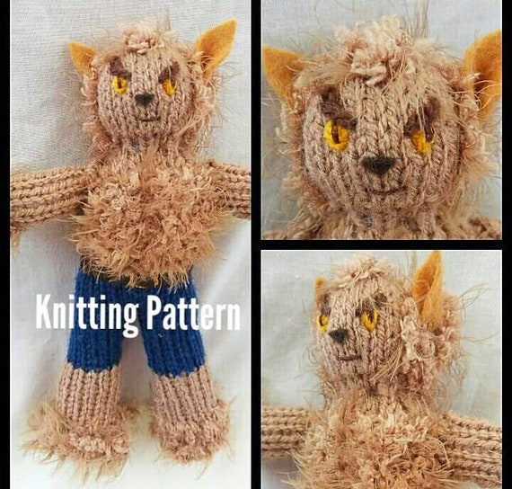 Werewolf Knitting Pattern To Create Your Own Werewolf Etsy