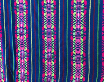 4b69702ccea0ed Mexican Fabric ( half yard) Blue | Traditional Mexican fabric | Mexican  Fiesta fabric | Cinco de mayo decoration | otomi fabric
