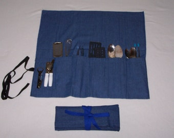 UTENSIL ROLL-UP  for Camp or Picnic
