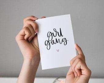 Dream Big Brush Lettering Card Inspirational A6 Greeting Card Modern Handwriting Motivation Monochrome Print Friendship Card Minimal Style