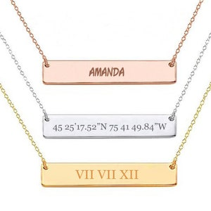 Custom Coordinates Necklace High School Graduation gift Personalized Necklace Bridesmaid Personalized Jewelry Gift Anniversary