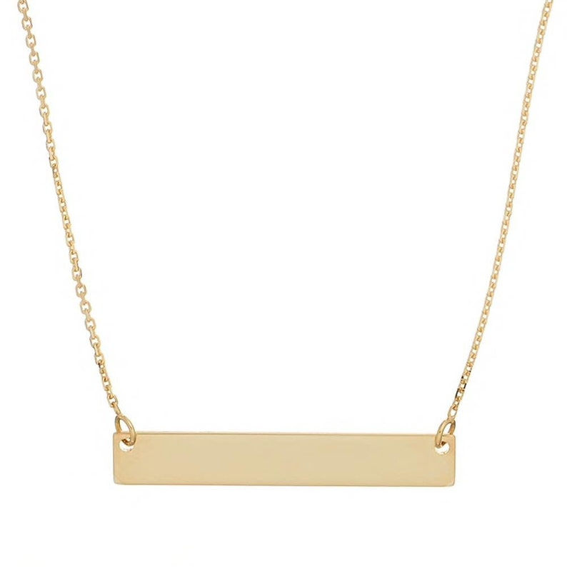 Name Personalized Bar Necklace Custom Name Graduation gift Women Name Necklace Name Plate Necklace Initial Necklace Gold Bar Necklace