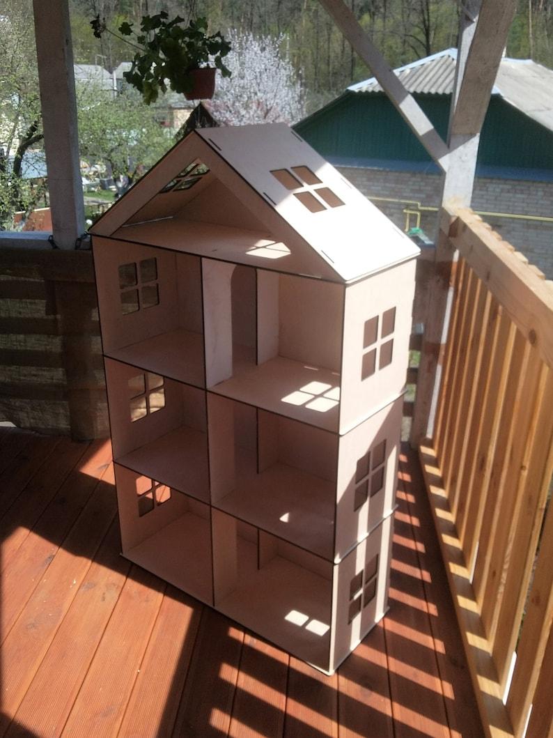 Dollhouse kit Big Wooden Barbie Dollhouse 4 floors