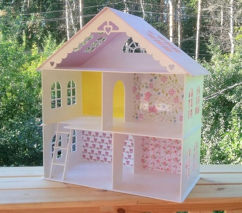Dollhouse with stairs Gift for Girl Wooden dollhouse image 0