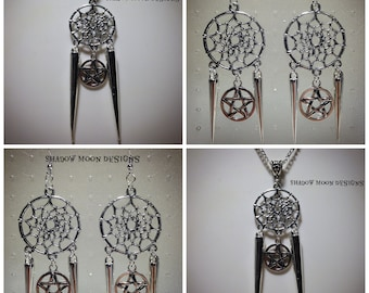 Spike & Pentagram Dreamcatcher Jewelry