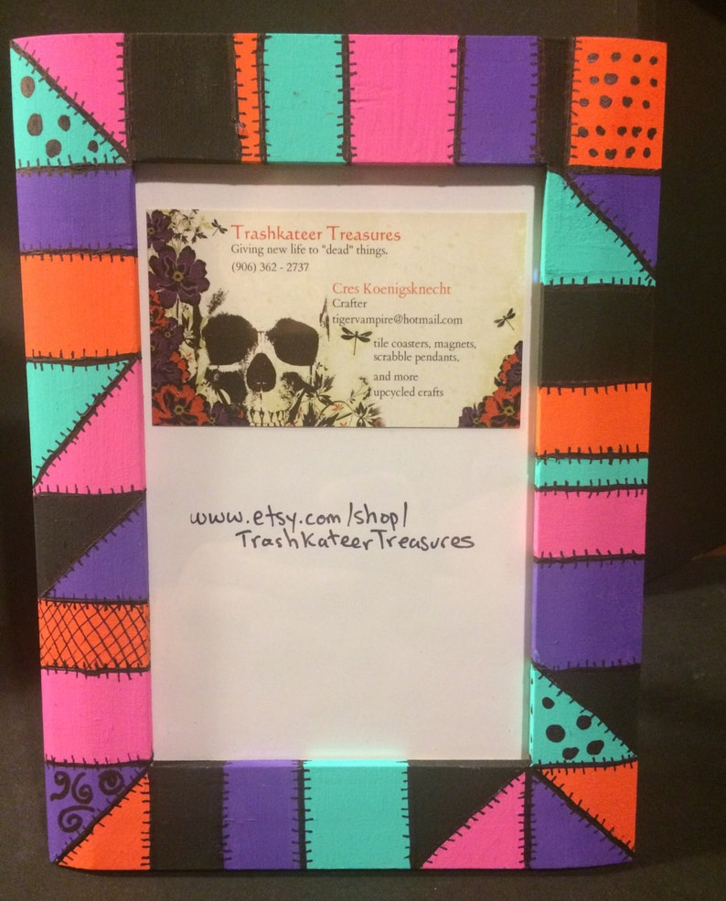 Hand-painted Nightmare Before Christmas inspired picture frame sally/'s dress