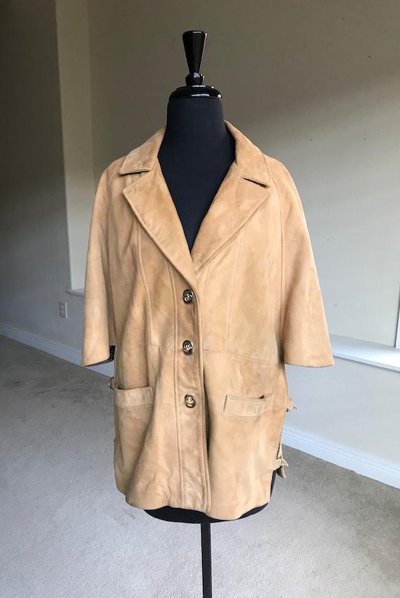 Tan Suede Cape Modern Vintage