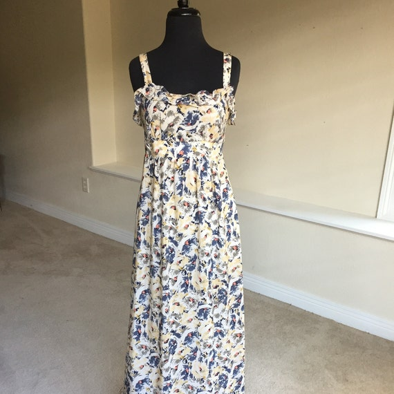 Anthropologie Moulinette Soeurs Silk Maxi Dress Etsy