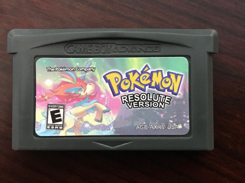 Pokemon Resolute English Game Boy Advance Gba Etsy