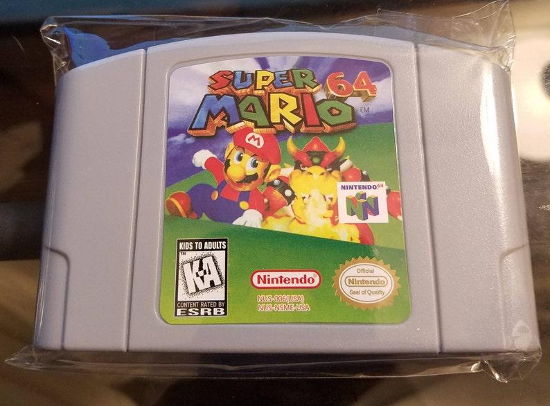 Super Mario 64 N64 Custom English Nintendo 64