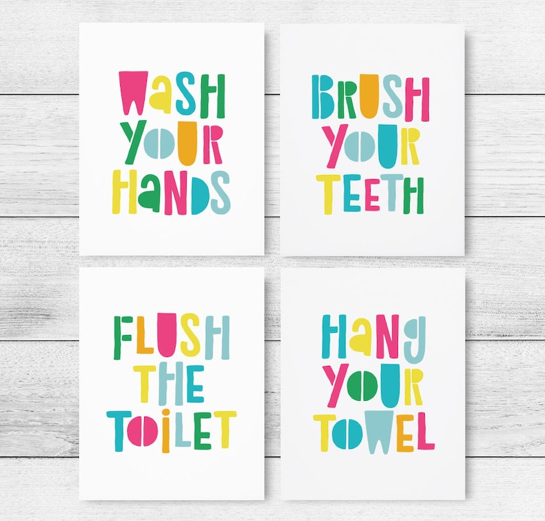 photo relating to Printable Bathroom Rules titled Young children Lavatory Printable Artwork, Fastened of 4, Little ones Toilet Guidelines, Young children Rest room Symptoms, Little ones Rest room Print, Wall Artwork Poster *Prompt Down load*