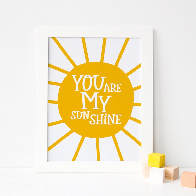 image regarding You Are My Sunshine Printable named By yourself Are My Sunlight Printable Artwork, Yellow Nursery Decor, In excess of Crib Decor, Sun Nursery Print, Sun Child Wall Artwork *Instantaneous Down load*