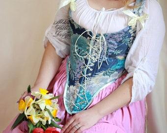 Corset Top, Cottagecore, Stays, 18th c Stays, Fashion Corset, LARP, Cosplay, Ren Fair, Renaissance Fair, Tudor dress, Historical dress