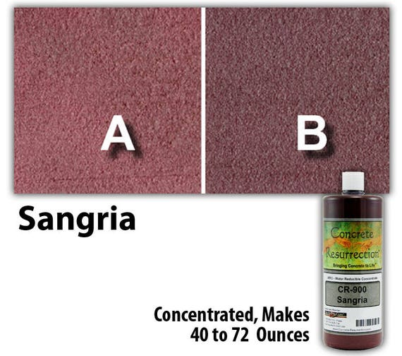water based conentrated concrete stain 8oz bottle sangria. Black Bedroom Furniture Sets. Home Design Ideas