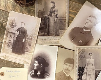 1900s Framed Vintage Cabinet Card Photo Display Vintage Musician Black and White Portraiture Artistic Display Movie Prop TV Prop History