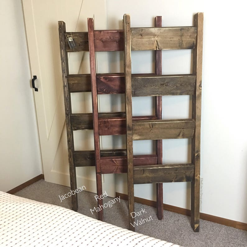 Wooden farmhouse quilt ladder decorative country decor furniture Rustic 5ft blanket ladder Nursery decor 5/' distressed towel rack