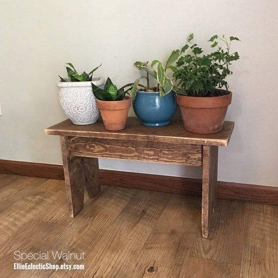 Tremendous Rustic Plant Stand Wood Bench Farmhouse Entryway Bench Primitive Farmhouse Front Porch Plant Stand Bench Coffee Side Table Gmtry Best Dining Table And Chair Ideas Images Gmtryco