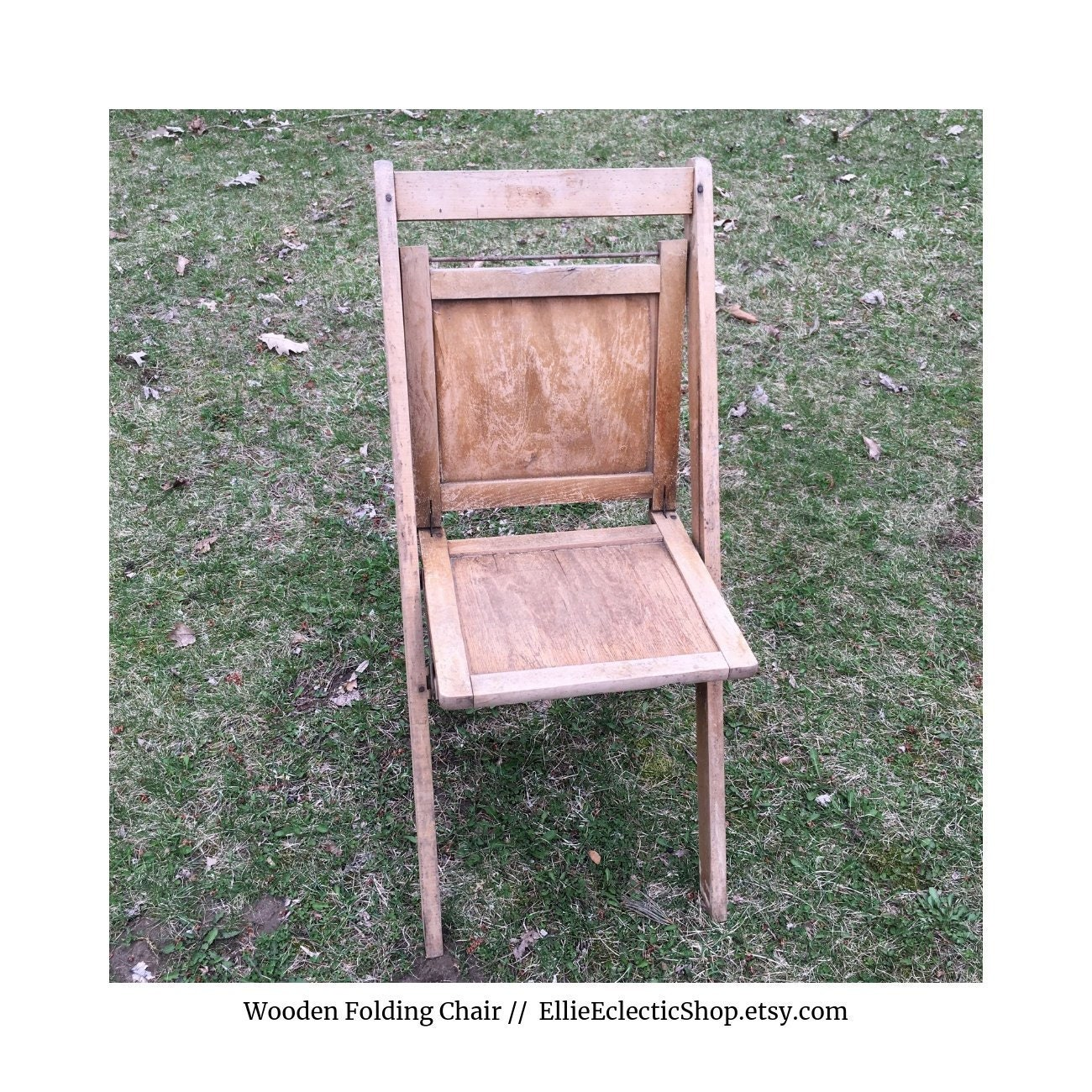 Vintage Wooden Folding Chair Antique Wood Chair Farmhouse Decor Farmhouse Furniture Entryway Decor Rustic Home Decor