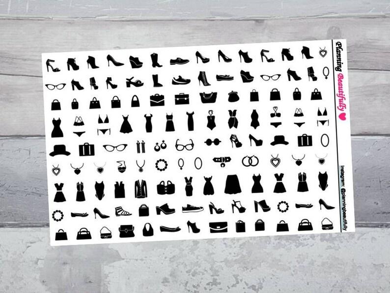Fashion Stickers Fashion Planner Stickers Erin Condren image 0